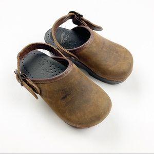 Dansko Nubuck Leather Clogs